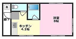 若葉小島[2階]の間取り