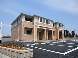 栃木県宇都宮市中里町の賃貸アパートの外観