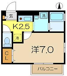 TownCourt124[1階]の間取り