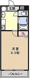VINGT-SEPTきぬがさ[302号室号室]の間取り