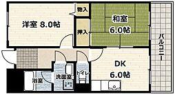 アメニティ豊里2[3階]の間取り