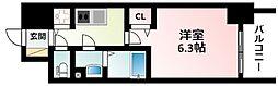 Osaka Metro御堂筋線 東三国駅 徒歩9分の賃貸マンション 7階1Kの間取り