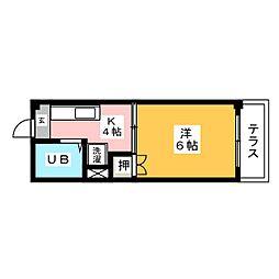 ハピネス・T・昭和[1階]の間取り