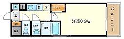 サムティ阿波座ベルシア 11階1Kの間取り