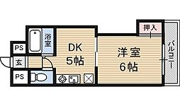 新大阪グランドハイツ北[6階]の間取り