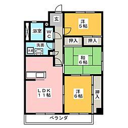 サニーコート高蔵寺[5階]の間取り