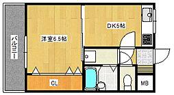 エスポワール六ツ門[8階]の間取り