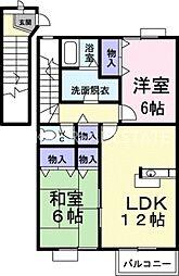 デュエルミサキII C[2階]の間取り