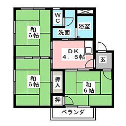 ハイツミネルバC棟[1階]の間取り