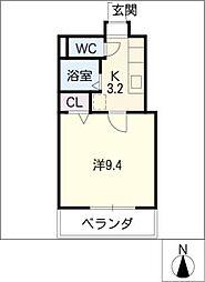 大竹南ビル[7階]の間取り