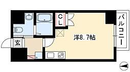 IARIM車道 4階ワンルームの間取り