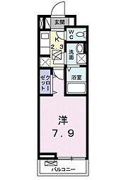 グローヴ テラス−2 1階1Kの間取り
