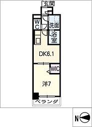 スプリームヒルズ鶴舞[8階]の間取り