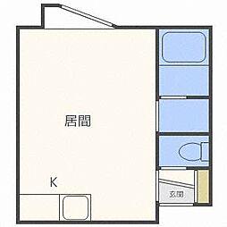 ゾンネ澄川[1階]の間取り