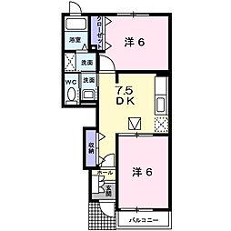 Palazzo・K A[102号室]の間取り