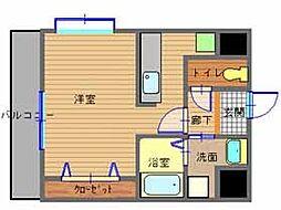長崎県長崎市住吉町の賃貸マンションの間取り