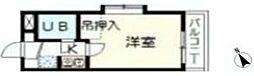 イジェント生田[102号室]の間取り