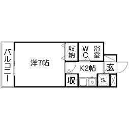 日興パレス浜松[1階]の間取り