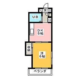 キャッスル北沢[6階]の間取り