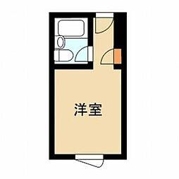 東京都新宿区神楽坂3丁目の賃貸マンションの間取り