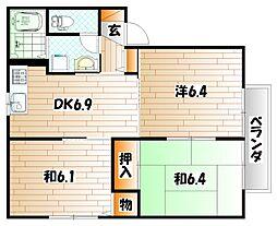 インフィオーレ芦田 A棟[2階]の間取り