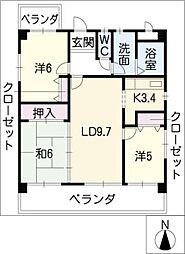 メゾンミチ[3階]の間取り