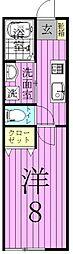 オーセント新鎌ヶ谷[2階]の間取り