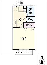 ジェミニ覚王山 B棟[2階]の間取り