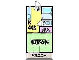 愛媛県松山市北井門4丁目の賃貸アパートの間取り