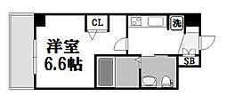 エステムコート新大阪IXグランブライト[804号室]の間取り