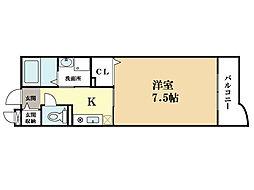 ランデュール岡本[3階]の間取り