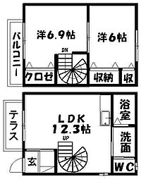 [テラスハウス] 静岡県浜松市西区志都呂町 の賃貸【/】の間取り