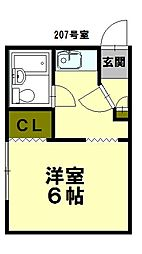 北海道小樽市東雲町の賃貸アパートの間取り