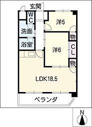 サンシャイン宿跡[4階]の間取り