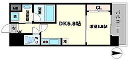 エムコート江坂[8階]の間取り