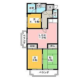 第2橋本マンション[4階]の間取り