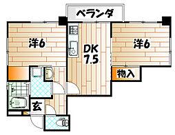ルネックスI[2階]の間取り