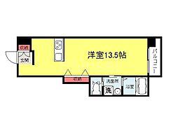 大阪府堺市堺区大町東4丁の賃貸マンションの間取り