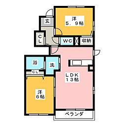 シエロ[1階]の間取り