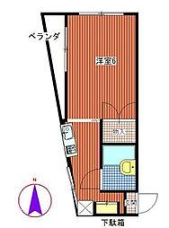 東京都荒川区西尾久1丁目の賃貸マンションの間取り