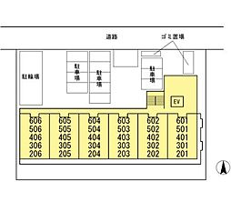 DL サンシャイン湘南[201号室]の間取り