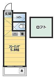 ローヤルパーク[2階]の間取り