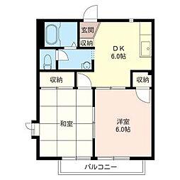 メープル タウン A[2階]の間取り