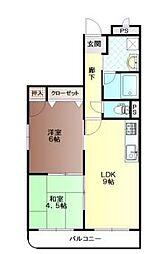 中仙道パレス3[3階]の間取り