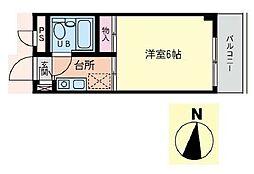 東京都江戸川区瑞江2丁目の賃貸マンションの間取り