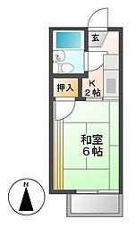 タウニー野上B[2階]の間取り