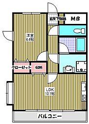 カサベルデ貝取[4階]の間取り