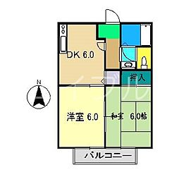 津ノ宮ガーデン[2階]の間取り