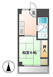 マンション藤[5階]の間取り