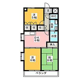 メゾン有東坂[1階]の間取り